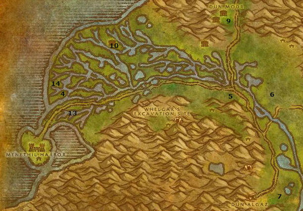 Wow Classic Alliance Leveling Guide 21 22 Wetlands