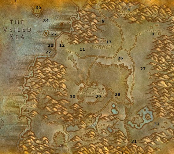 Wow Classic Alliance Leveling Guide 34 35 Desolace
