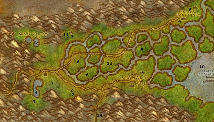 Wow Classic Alliance Leveling Guide 38 39 Swamp Of Sorrows