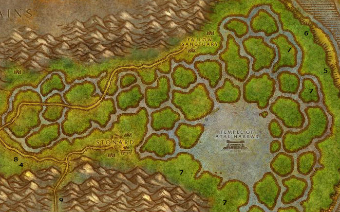 Wow Classic Alliance Leveling Guide 41 42 Swamp Of Sorrows