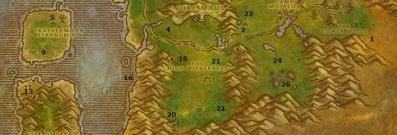 Wow Classic Alliance Leveling Guide 44 45 Feralas