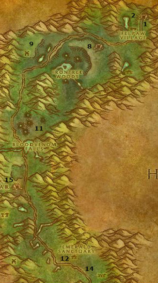 Wow Classic Alliance Leveling Guide 54 54 Felwood