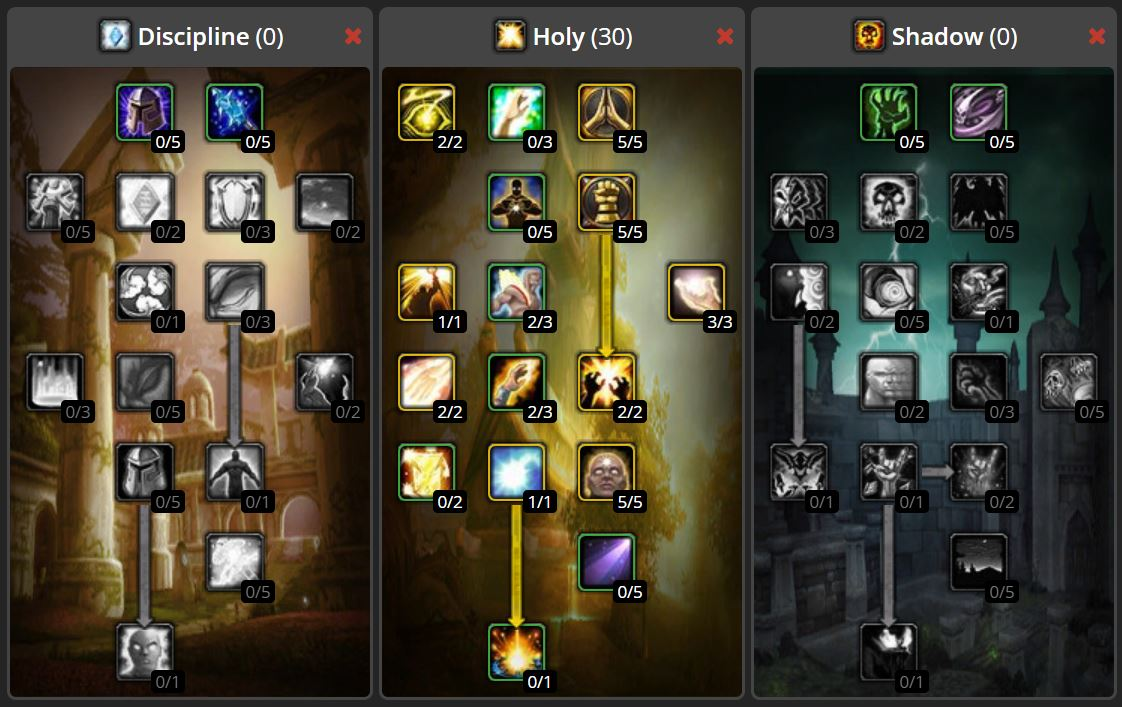 Wow Classic Twink Talent Build Images Holy Priest Smite